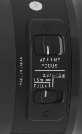 Obiektyw Sigma przełącznik AF